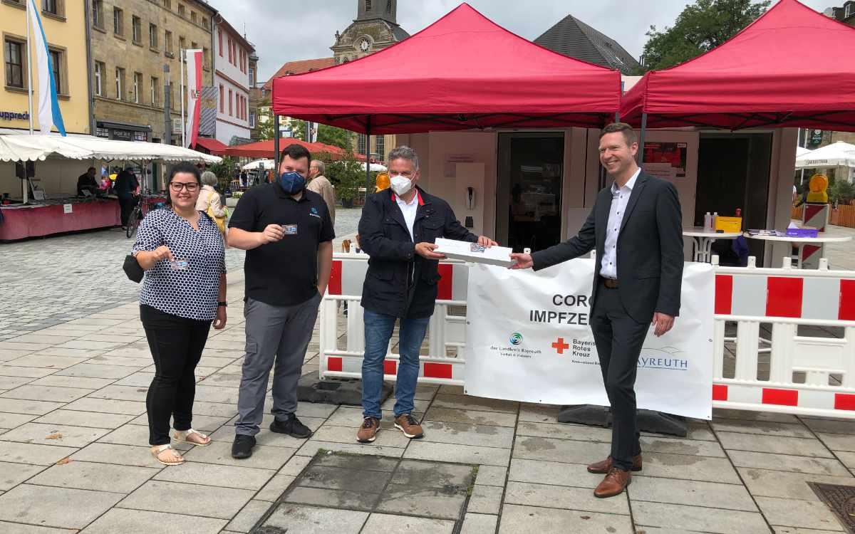 Der Impfcontainer in der Stadt Bayreuth bietet im September noch einmal Impfungen an. Archivbild: Michael Kind