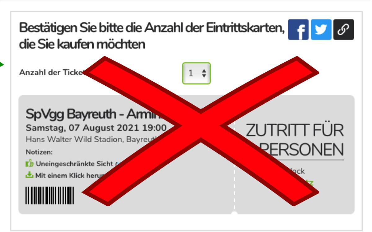 Die SpVgg Bayreuth spielt im DFB-Pokal gegen Bielefeld - das wollen sich Betrüger offenbar mit gefälschten Tickets zunutze machen. Bild: Montage Redaktion