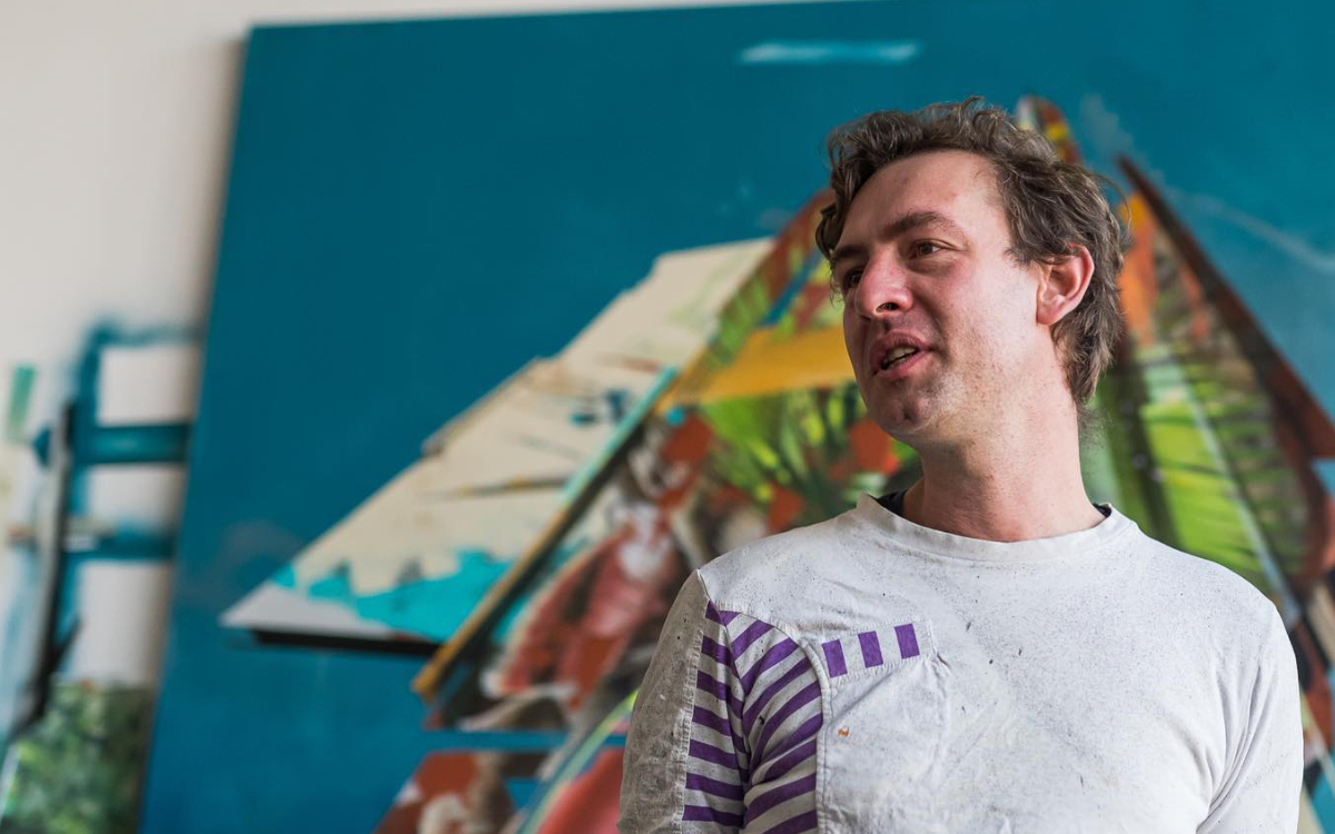 Der Erfurter Street Artist Martin Fink stellt am 13. August sein neues Kunstwerk in Bayreuth vor. Bild: Martin Fink