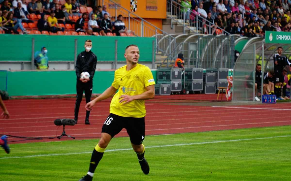 Die SpVgg Bayreuth hat am 8. Spieltag der Regionalliga Süd den SC Eltersdorf besiegt. Bild: Jürgen Lenkeit