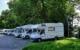 Der Parkplatz in der Grünewaldstraße: Beliebter Treffpunkt vieler Campingwägen. Bild: Jürgen Lenkeit