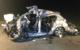 Tödlicher Unfall im Kreis Bayreuth: Das Auto des Verstorbenen wurde völlig verformt. Bild: privat