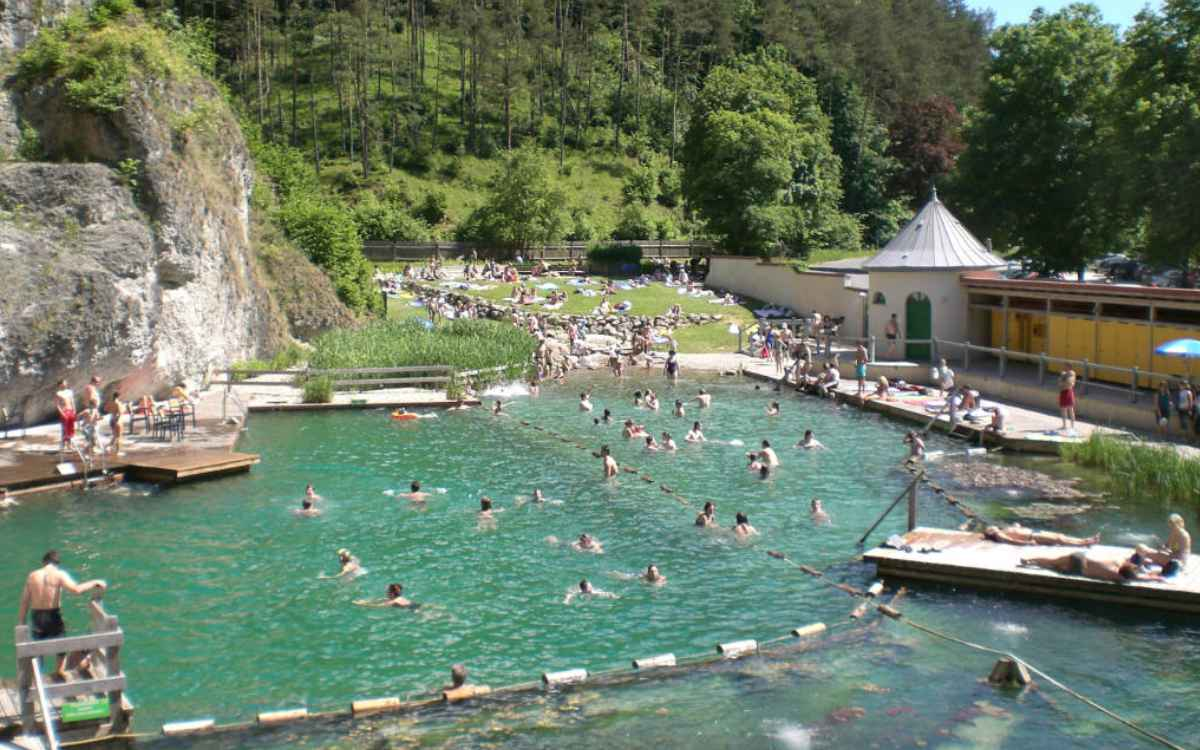 Das Felsenbad in Pottenstein. Foto: Tourismusbüro Pottenstein
