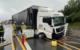 Unfall auf der A9 bei Bad Berneck. Ein Lkw ist in die Baustelle gekracht. Foto: Fricke / News5