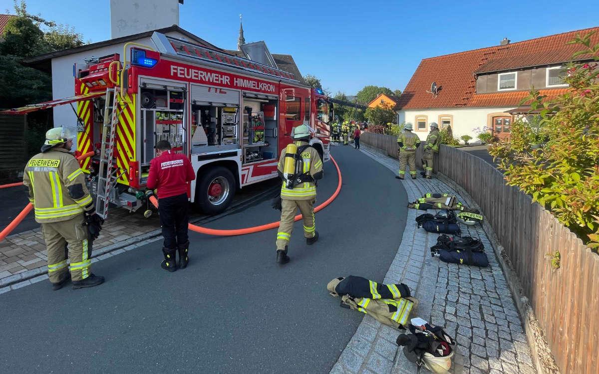 In einem Mehrfamilienhaus in Himmelkron hat es gebrannt. Foto: Fricke / News5