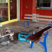 Vandalismus an Schule in Eckersdorf. Foto: Gemeinde Eckersdorf