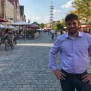 Corey Dressendörfer kandidiert im Wahlkreis Bayreuth für die Freien Wähler. Bild: Michael Kind