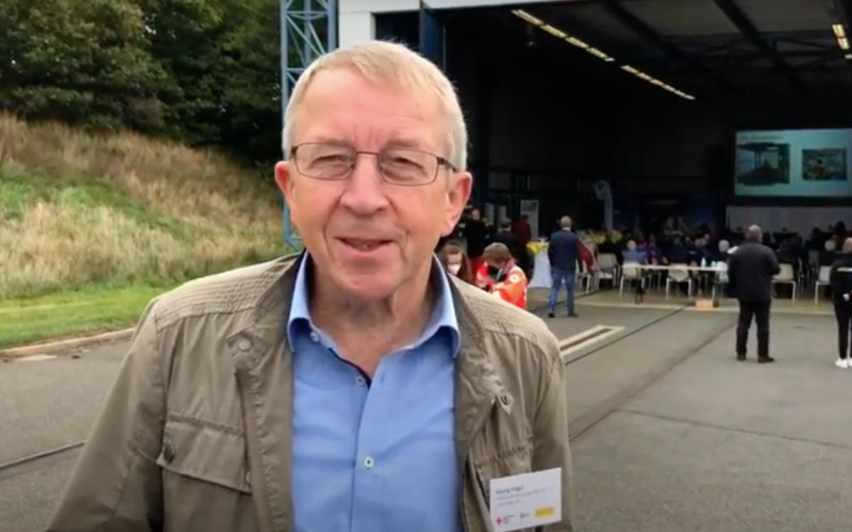 ADAC Luftrettung in Bayreuth: Georg Vogel war 32 Jahre lang Hubschrauberpilot. Bild: Jürgen Lenkeit