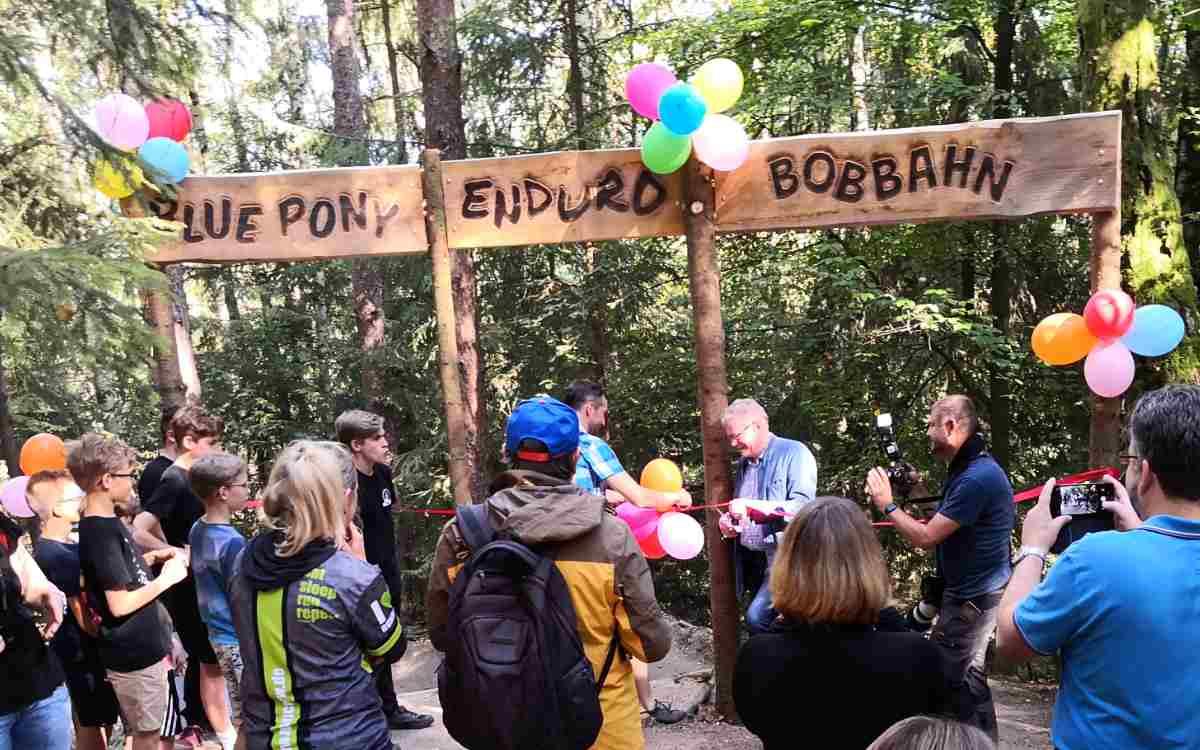 Neuer Mountainbike-Trail in Bayreuth: Am Samstag (25. September) wurde die Strecke offiziell eröffnet. Bild: Stefan Steurer