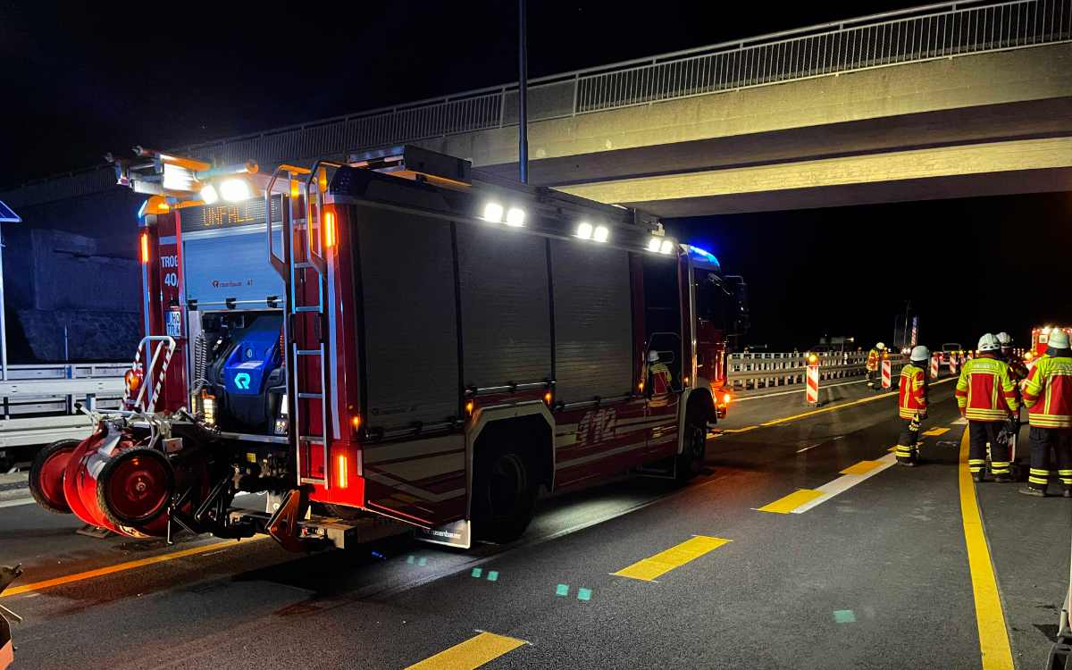 Am Autobahndreieck Hochfranken kam es am Freitagabend (24. September) zu einem Unfall. Bild: News5/Fricke