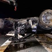 Donnerstagnacht (30. September) verunglückte ein 19-jähriger Fahranfänger mit einem über 400 PS starken BMW bei Coburg. Bild: News5/Ittig