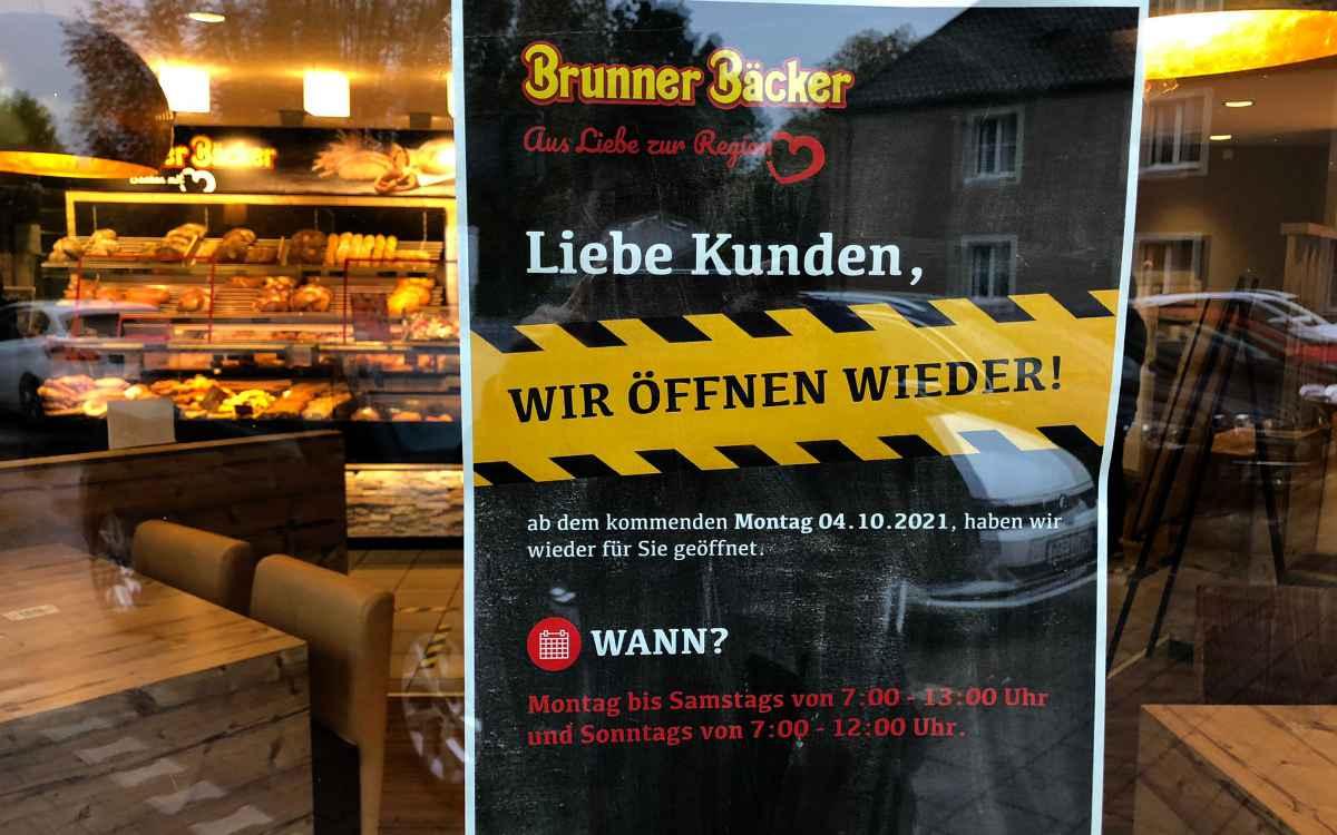Brunner Bäcker in Bayreuth: Seit Montag (4. Oktober) hat die Filiale im Gutenberghaus wieder geöffnet. Bild: Michael Kind