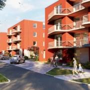 So sollen die Wohnungen in der Pottensteiner Straße in Bayreuth aussehen. Gegenüber vom Röhrensee entstehen hier 116 neue Wohnungen. Visualisierung: GBI Holding AG