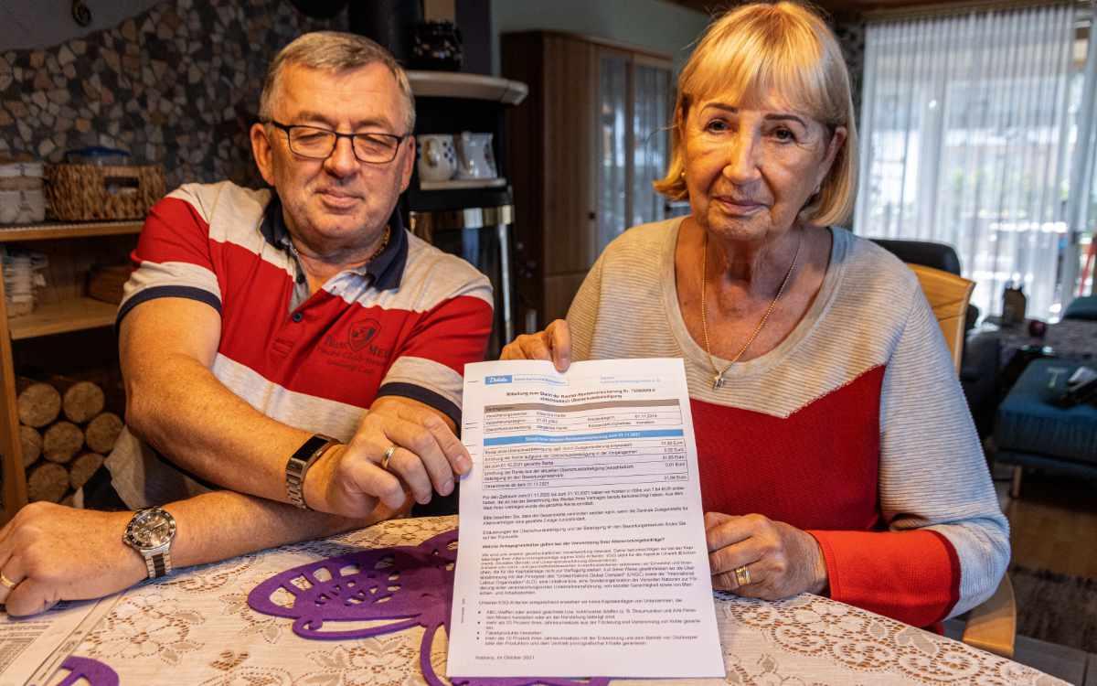 Rentenerhöhung um einen Cent: Ellen Hertle aus Eckersdorf bekommt ab November genau diesen Betrag mehr. Bild: News5/Fricke