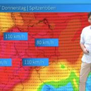 Sturm- und Orkanböen erreichen am Mittwoch und Donnerstag Deutschland. Hier wird es stürmisch. Foto: Screenshot/ Wetter.net